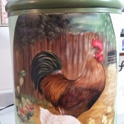 Milk Can Rooster